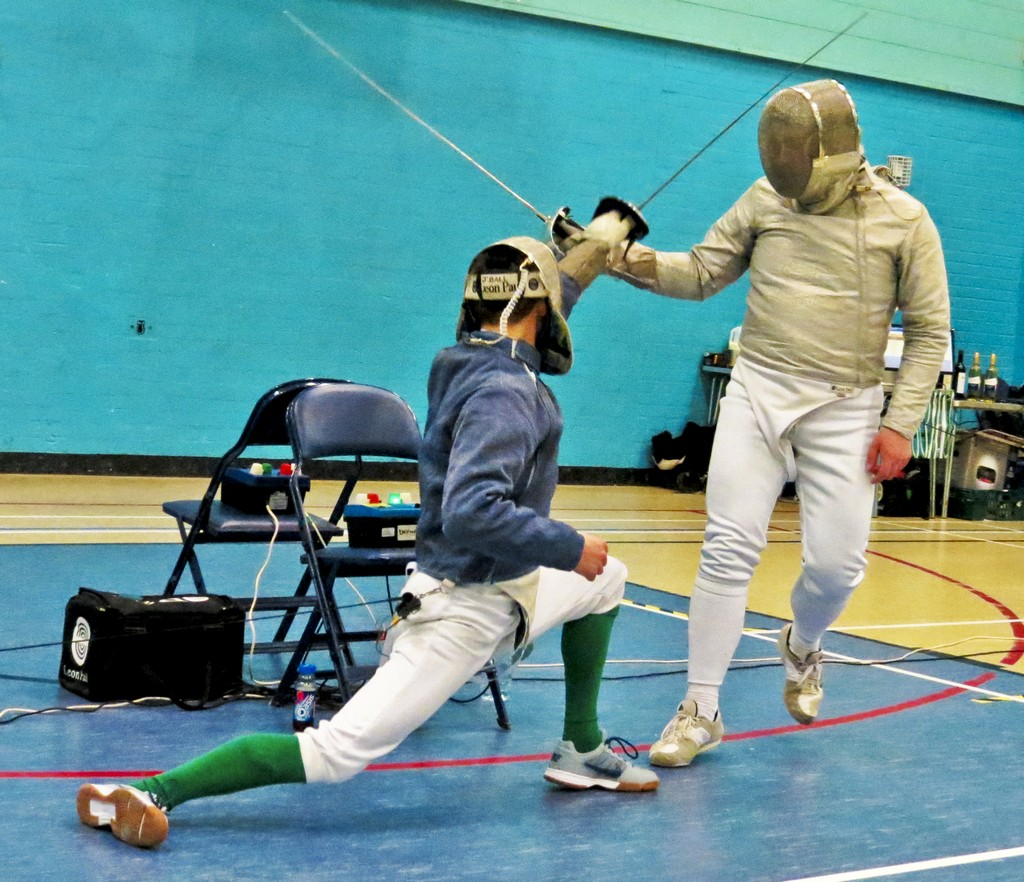 Jason and Ralph fencing sabre