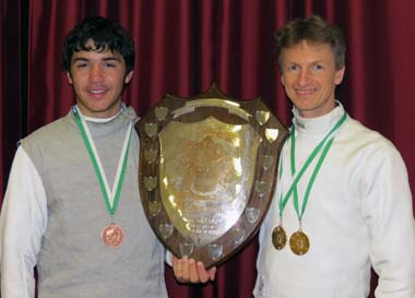 Ossian and Jason                     with the Buckland Abbey trophy